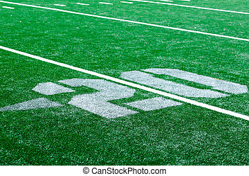 20 yard - american football arena - 20 yard turf american...