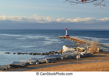 Oakville Lighthouse - Lighthouse on pier of Oakville Harbour...