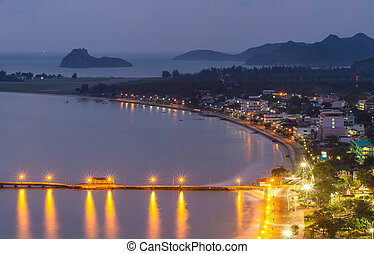 Twilight Prachuap Bay - Prachuap Bay point of view on it...