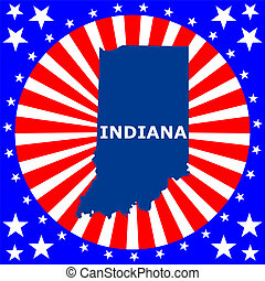map of the U.S. state of Indiana