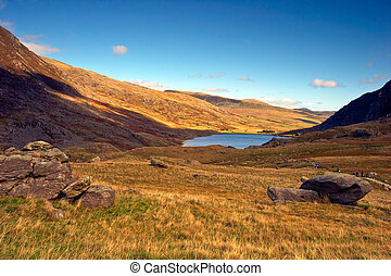 Llyn Ogwen - Walking up the path to Llyn Idwal, this is the...