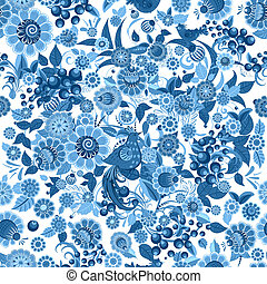 fashion seamless texture with stylized flowers