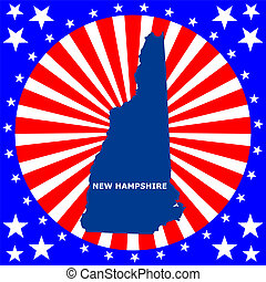 state of New Hampshire - map of the U.S. state of New...