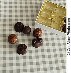 Fancy Box Chocolates - Fancy box chocolates isolated on...