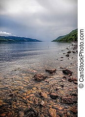 Loch Ness.Scotland - Image of a typical stormy day in Loch...
