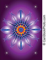 Mandala blooming flower - abstract graphic elements...
