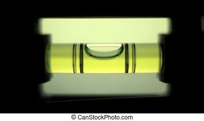 Spirit Level - Zoom in of bubble in level moving in and out...