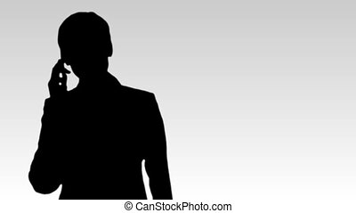 Silhouetted Business footage