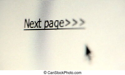 Next Page link - Cursor clicking on next page on computer...