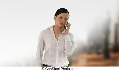 Business woman at work - 2 - HD footage of a Businesswoman...