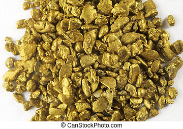pile of alluvial gold nuggets found in France
