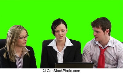 Group of Business People Meeting - High Definition Green...