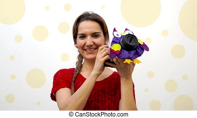 Woman Child Photographer Owl Puppet - Female professional...