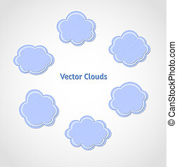 Set of textured vector clouds