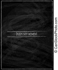 Black chalk board concept poster vector background