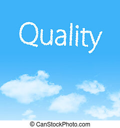 Quality cloud icon with design on blue sky background