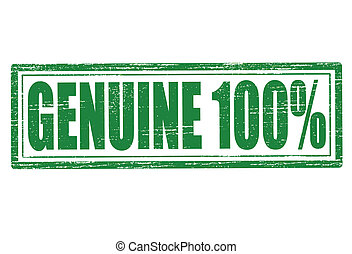 Genuine - Stamp with word genuine inside, vector...