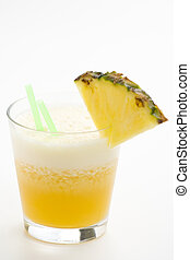 refreshing pineapple and orange milkshake