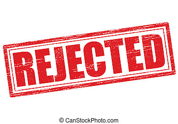 Rejected - Stamp with word rejected inside, vector...