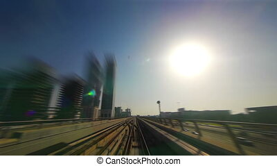 Dubai veiw from subway