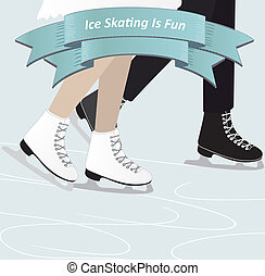 Two people ice skating - A man and a woman ice skating...