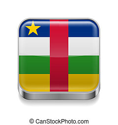 Metal  icon of Central African Republic
