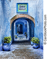 Chaouen - in northern Morocco, there is a town where all the...