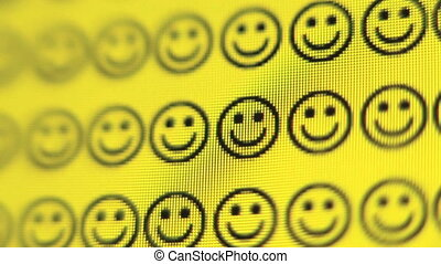 Smiley Face - Smiley faces changes to frowns