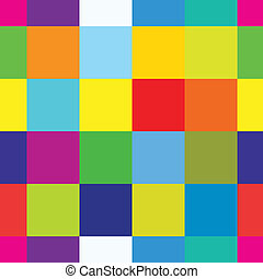 squares - Abstract colorful seamless pattern-squares vector...