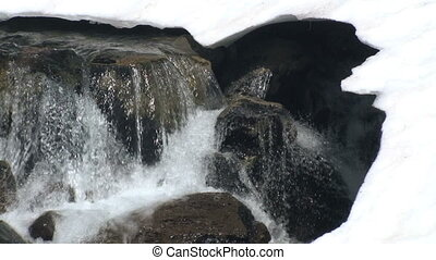 Melting Snow River - River of melting snow, Mount Rainier...