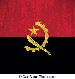 Angola - abstract Angola flag with special dirty effect
