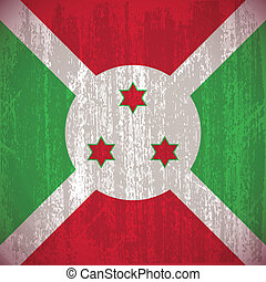 Burundi - Abstract Burundi flag with special dirty effect