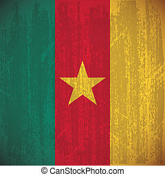Cameroon - abstract Cameroon flag with special dirty effect