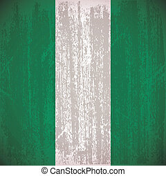 Nigeria - Abstract Nigeria flag with special dirty effect