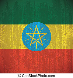 Ethiopia - abstract Ethiopia flag with special dirty effect