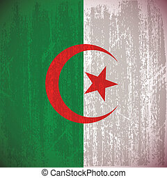 Algeria - abstract algeria flag with special dirty effect