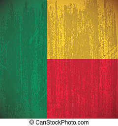 Benin - Abstract Benin flag with special dirty effect