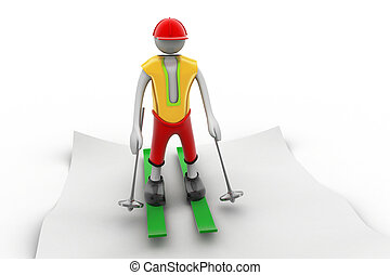 Ice scatting 3d man