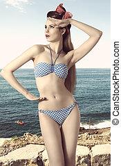 pin-up with bikini