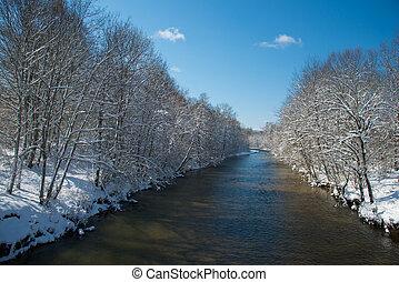presto, fiume, Mattina