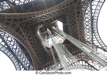 Inside the Tower Eiffel - The picture of