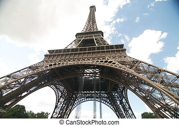 Eifel tower close-up - The picture of the Eifel tower Eifel...