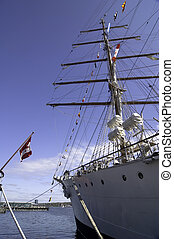 Halifax waterfront - Tall ship at the pier in Halifax, Nova...