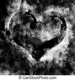 Grunge Heart Texture