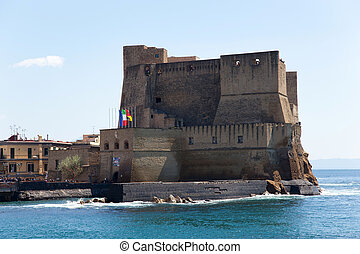 Castel dell'Ovo, Naples, Italy - Castel dell'Ovo fortress in...