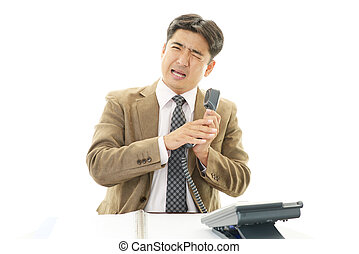 Stressed Asian businessman - Tired and stressed Asian...