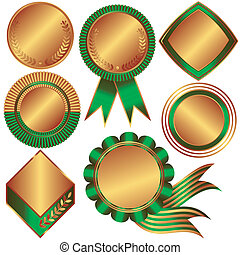 Collection of bronze medals and counters (vector) -...