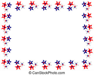 star red blue white boader - editable eps vector format,...