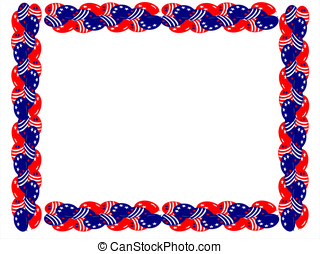 fourth july balloons boarder - editable eps vector format,...