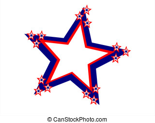 fourth july large star - editable eps vector format, fourth...
